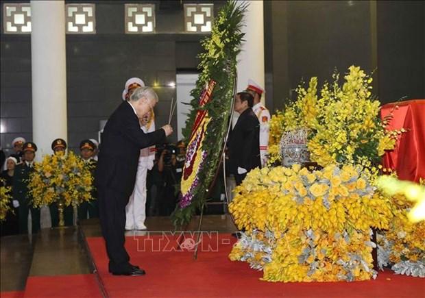 越南领导人对杜梅同志的赞扬和哀悼 hinh anh 1