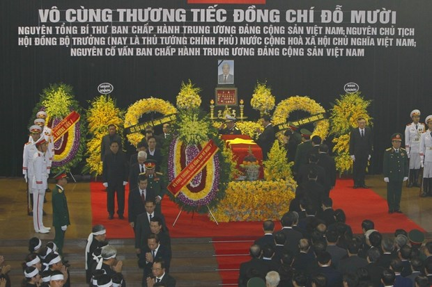 越南领导人对杜梅同志的赞扬和哀悼 hinh anh 2