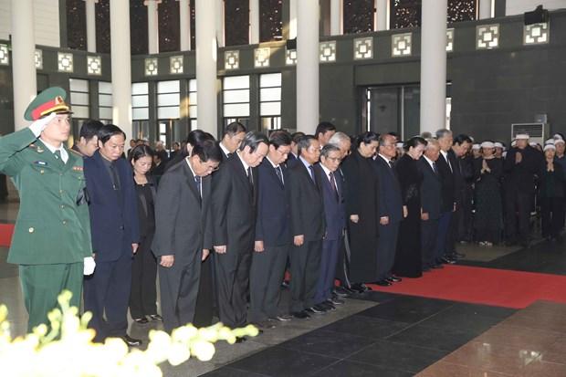 原越南共产党中央委员会总书记杜梅吊唁仪式隆重举行 hinh anh 1