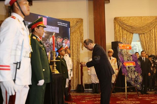原越南共产党中央委员会总书记杜梅吊唁仪式隆重举行 hinh anh 2