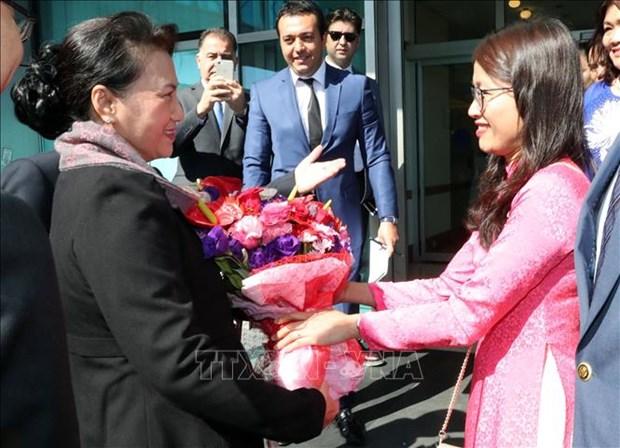 越南国会主席阮氏金银出席第三届欧亚国家议长会议并对土耳其进行访问 hinh anh 1
