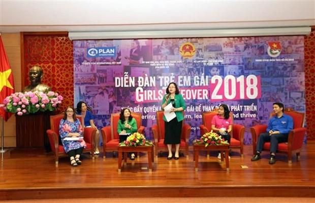 """题为""""促进女童权力 实现改变与发展""""的2018年女童论坛举行 hinh anh 1"""