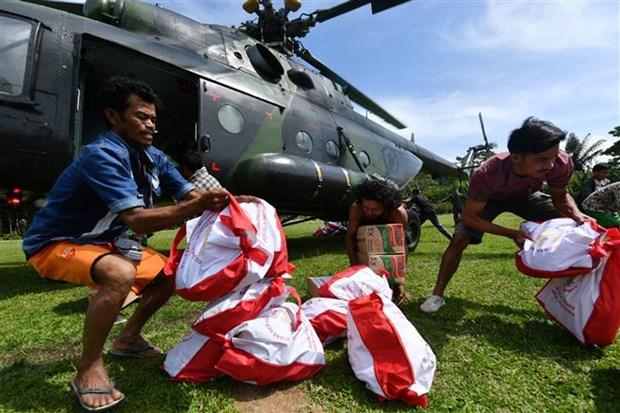 印尼地震和海啸: 国际社会积极为灾区民众提供支持 hinh anh 2