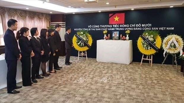 越南驻中国大使馆为原越共中央总书记杜梅举行吊唁仪式 hinh anh 1