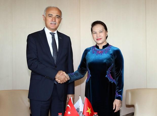 国会主席阮氏金银会见土耳其对外经济关系委员会主席 hinh anh 1