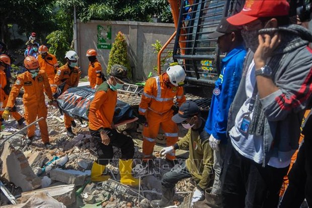 印尼地震和海啸:死亡人数近2000人 灾区搜救工作于10月11日结束 hinh anh 2
