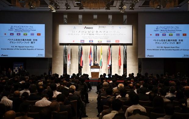 政府总理阮春福出席日本与湄公河流域国家商务论坛 hinh anh 2