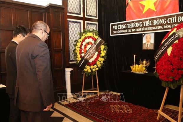 原越共中央总书记杜梅吊唁仪式在埃及、阿根廷和孟加拉国举行 hinh anh 2
