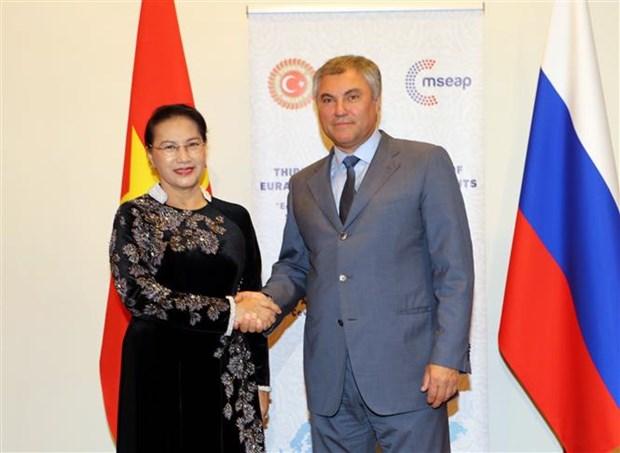 越南国会主席阮氏金银会见俄罗斯联邦国家杜马主席 hinh anh 1