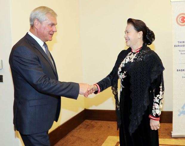 越南国会主席阮氏金银与韩国和白俄罗斯国会领导举行会晤 hinh anh 2