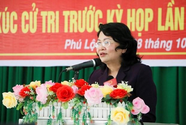 越南国家代主席邓氏玉盛:力争实现减少毒品供应、毒品需求和毒品犯罪 hinh anh 3