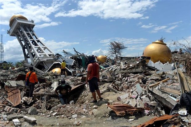 印尼地震和海啸:中苏拉威西省灾后重建工作大力展开 hinh anh 1