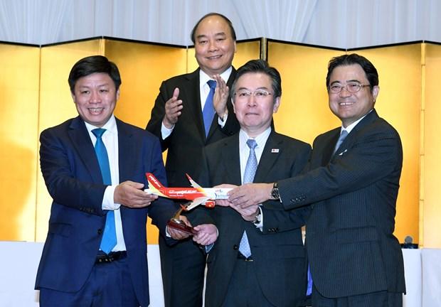 越捷开通越南至日本三个直达航线 hinh anh 1