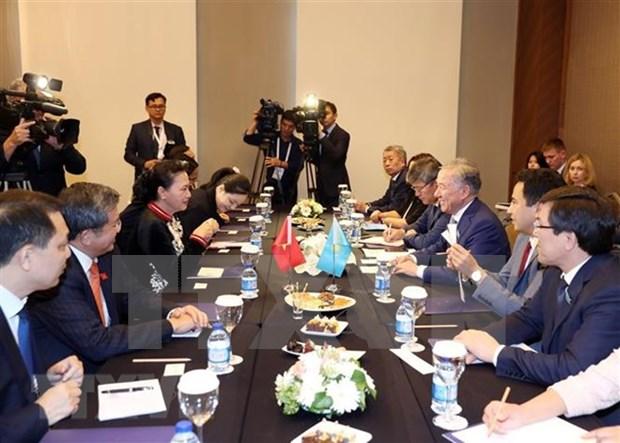 越南国会主席阮氏金银会见哈萨克斯坦马日利斯议长 hinh anh 2