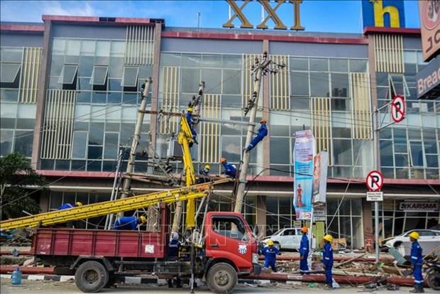 印尼开始中苏拉威西省灾区的恢复和重建工作 hinh anh 1