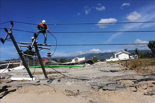 印尼开始中苏拉威西省灾区的恢复和重建工作 hinh anh 2