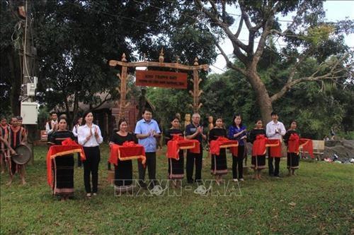 嘉莱省嘉莱族和巴纳族民间木雕像展示空间正式开放 hinh anh 1