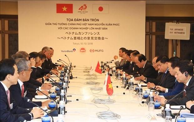越南政府总理阮春福会见日本部分大型企业领导 hinh anh 1