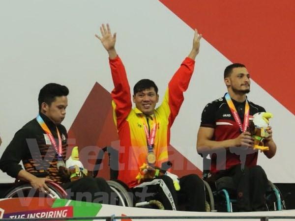 2018年亚残运会:游泳运动员武青松夺下第二枚金牌 hinh anh 2
