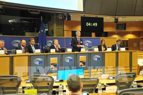 欧洲议会国际贸易委员会举行《越南与欧盟自由贸易协定》听证会 hinh anh 1