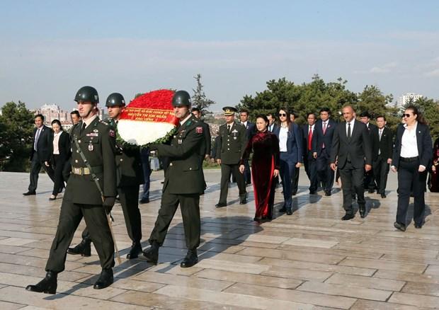 越南国会主席阮氏金银与土耳其议会议长比纳利·耶尔德勒姆举行会谈 hinh anh 3