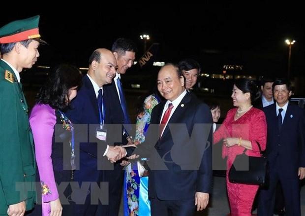阮春福圆满结束访日及出席日本与湄公河流域国家峰会之行 hinh anh 1