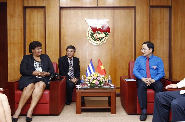 古巴共产党代表团表示将与越南共青团加强交流 hinh anh 1