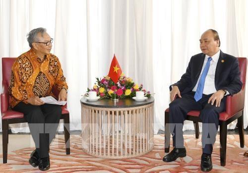 越南政府总理阮春福会见印尼芝布特拉Ciputra集团总裁 hinh anh 1
