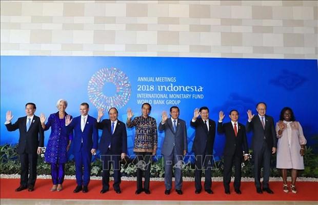 越南政府总理阮春福出席WB和 IMF秋季年会开幕式 hinh anh 1