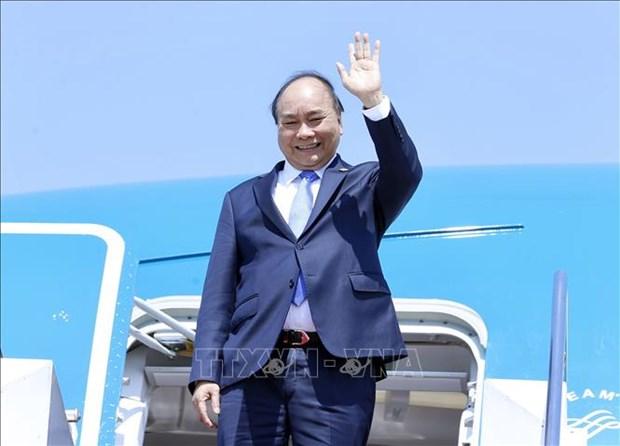 阮春福总理结束出席东盟领导人见面会并对印尼进行工作访问之旅 hinh anh 1