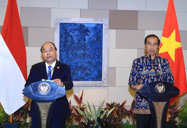 越南政府总理阮春福与印尼总统举行会谈 hinh anh 2