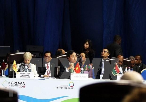 第十七届法语国家组织峰会闭幕 hinh anh 1