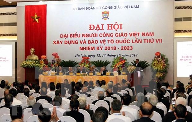 越南天主教建国卫国教徒第7届代表大会召开 hinh anh 1