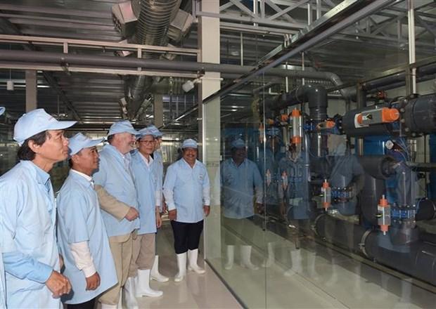 越南规模最大的虾苗养殖水质处理厂正式竣工 hinh anh 2