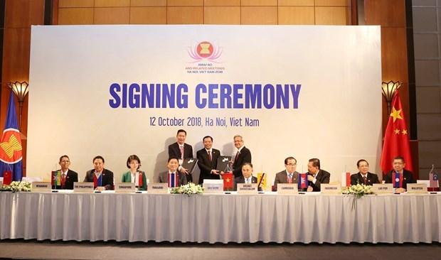 第40届东盟农林业部长会议:成功签署和通过多项文件 hinh anh 1