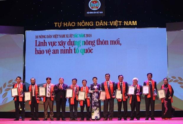 """""""2018年越南优秀农民""""表彰大会在河内举行 hinh anh 2"""
