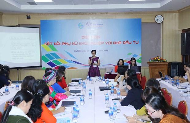 激发妇女创业创新热情 加强与投资者对接合作 hinh anh 1