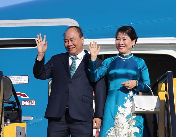 越南政府总理阮春福抵达维也纳开始对奥地利进行正式访问 hinh anh 1