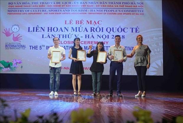 2018年国际木偶戏节圆满落幕 越南木偶戏演员获得许多奖项 hinh anh 1