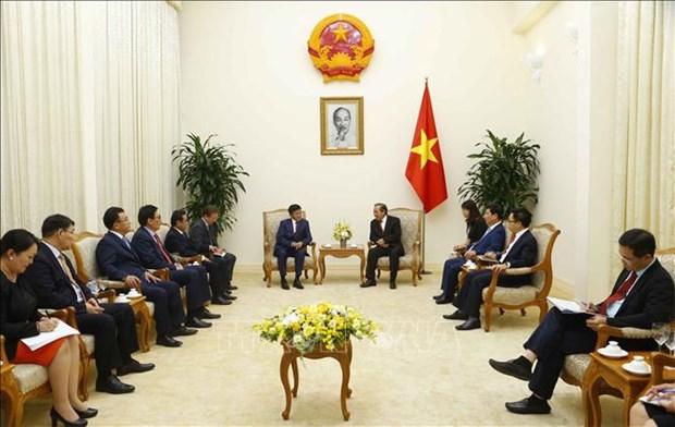 张和平会见蒙古国法律和内务部长尼亚木道尔吉 hinh anh 1