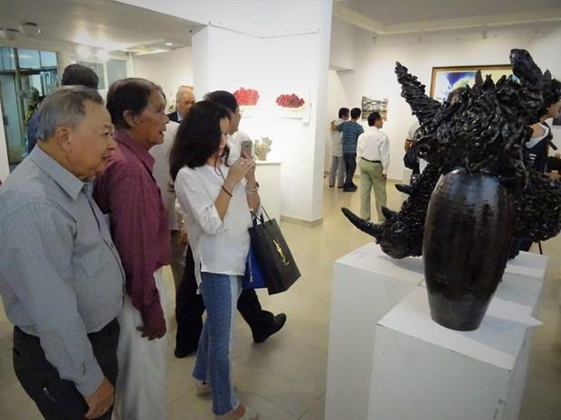 越法友好美术展在胡志明市举行 hinh anh 1