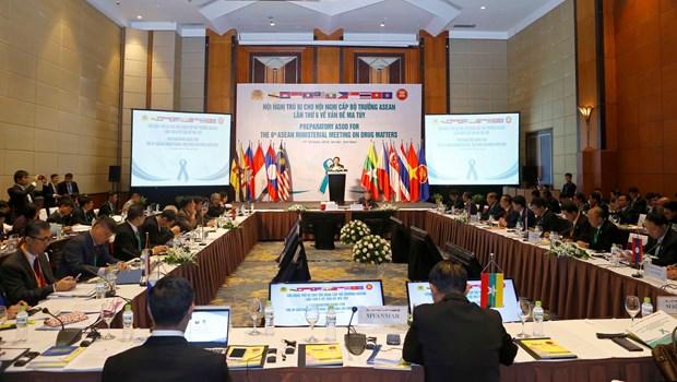 东盟各国加强打击毒品罪犯的合作 hinh anh 1