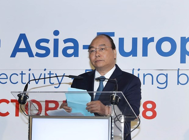 政府总理阮春福出席第十六届亚欧工商论坛并发表重要讲话 hinh anh 1