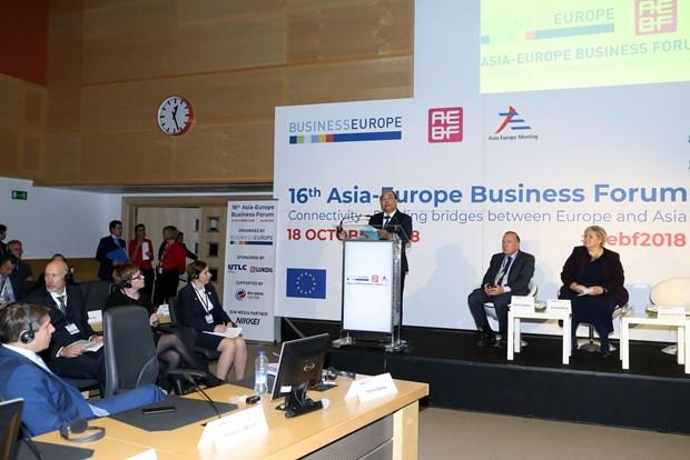 政府总理阮春福出席第十六届亚欧工商论坛并发表重要讲话 hinh anh 2