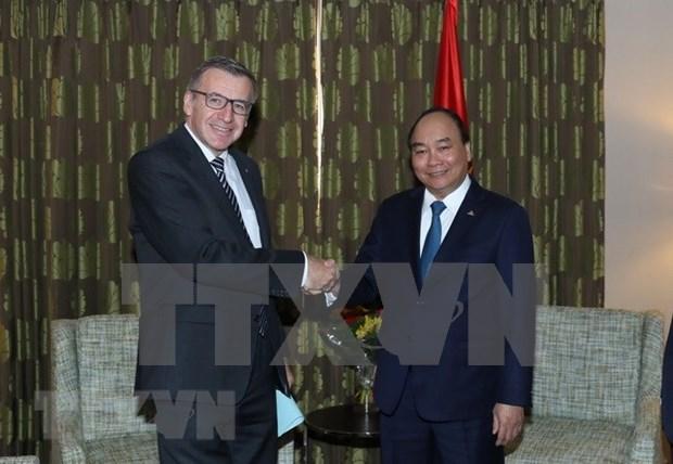 越南政府总理阮春福会见原比利时外交大臣 hinh anh 1
