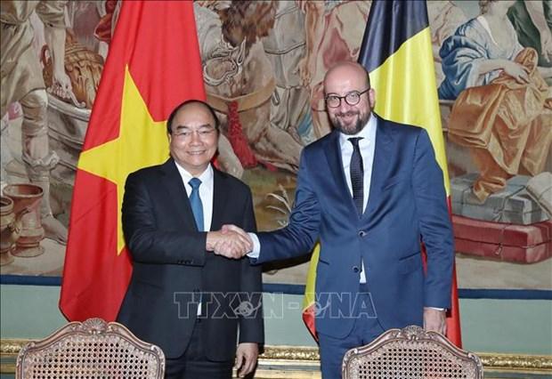 越南与比利时发表联合声明 hinh anh 1