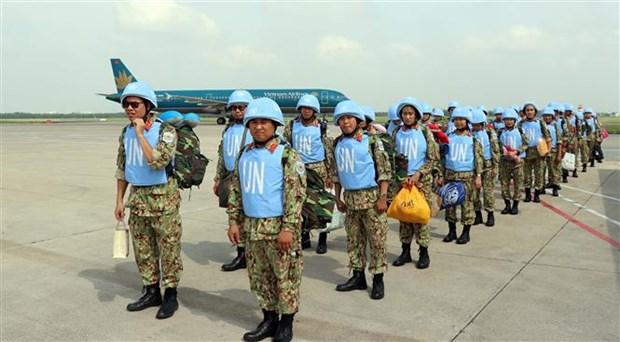 越南参与联合国维和行动:为创建和平世界贡献力量 hinh anh 2