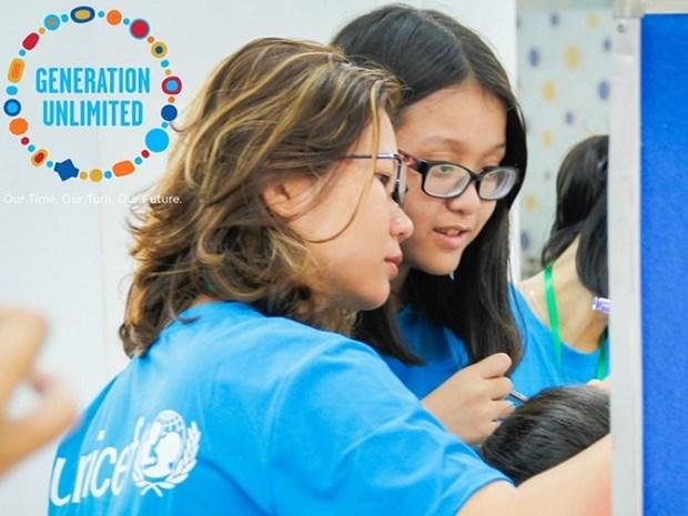 联合国儿童基金会越南青年挑战赛正式启动 hinh anh 1