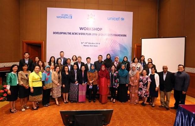 关于促进和保护东盟妇女儿童权益的研讨会在河内举行 hinh anh 1