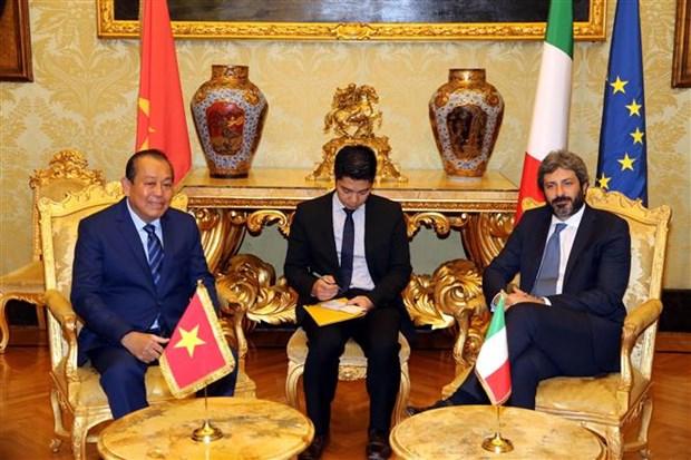 越南政府副总理张和平拜会意大利国家众议院议长罗伯托•菲科 hinh anh 2